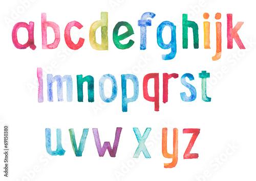 kolorowy-typ-czcionki-akwarela-aquarelle