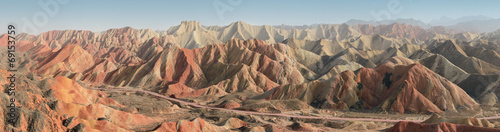 Poster de jardin Chine The rainbow mountains