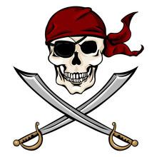Vector  Cartoon Pirate Skull I...
