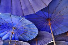 Overlap Blue Umbrella
