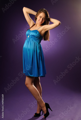 19 Year Old Pregnant Young Happy Woman Buy This Stock Photo And