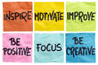 inspire, motivate, improve notes