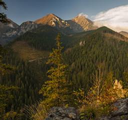 fototapeta góry w jesiennej szacie Tatry Słowacja