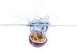 canvas print picture - Maracuja, Passionsfrucht Splash
