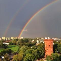 Podwójna tęcza nad Olsztynem