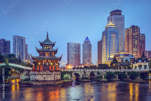 Guiyang, China at Jiaxiu Pavilion Canvas Print