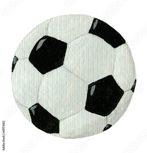 Vászonkép football ball isolated on white