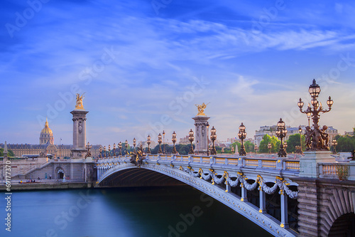 Photo  The Grand Palais and Pont Alexandre III