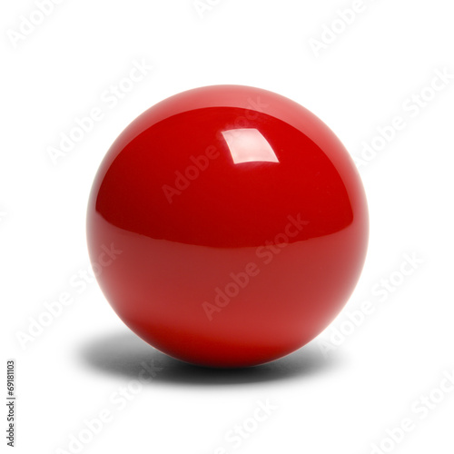 Deurstickers Bol Red Billard Ball