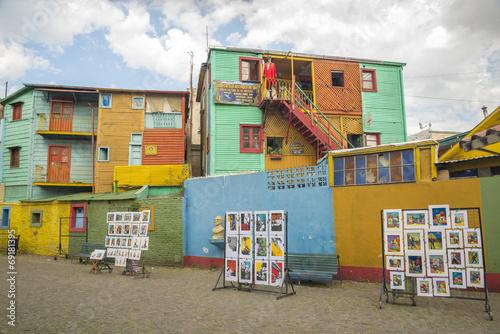 Deurstickers Buenos Aires Conventillos in Caminito