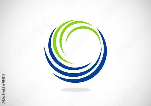 Fotografía circle swirl abstract vector logo