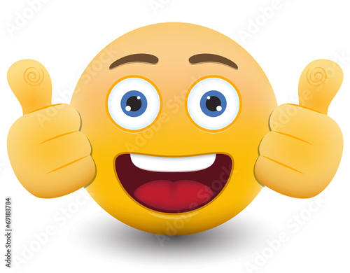 Yellow emoticon cartoon character eps 10 vector Poster