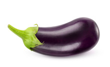 Isolated Eggplant. One Fresh E...
