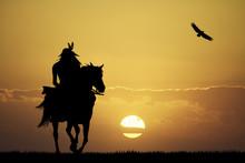 Crazy Horse At Sunset
