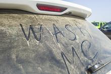Dirty Rear Window Of The Car A...