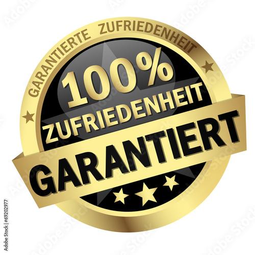Button - 100% ZUFRIEDENHEIT GARANTIERT Canvas Print