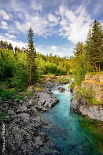 Fototapeta premium Piękny krajobraz Norweski