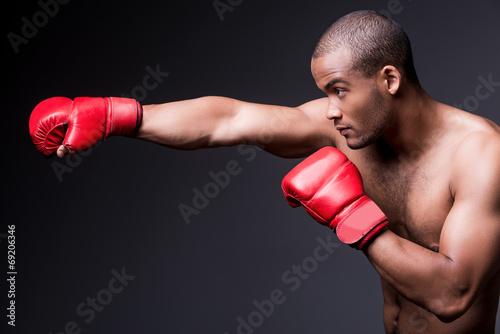 Man boxing. Poster