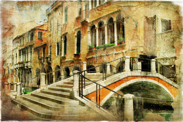 Fototapeta Mosty Venice' streets. artistic picture