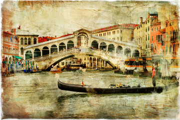 Panel Szklany Venice, Rialto bridge - artistic picture