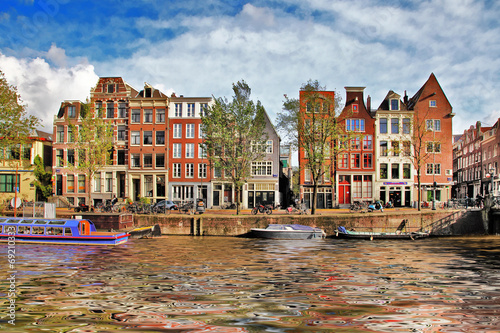 beautiful Amsterdam canals Canvas Print