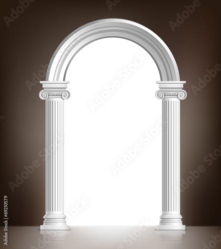 Realistic white arch Canvas Print
