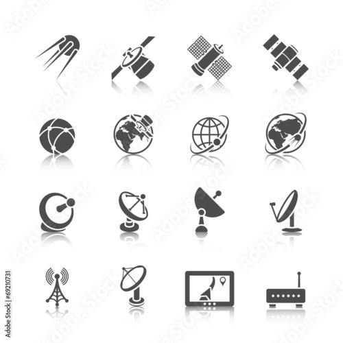 Fotografía  Satellite Icons Set