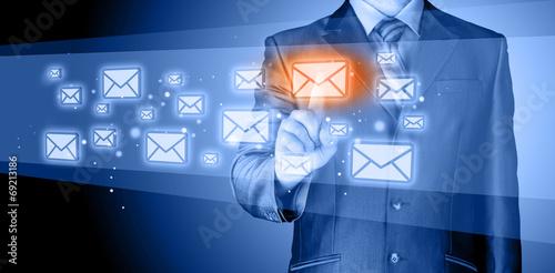 Fotografie, Obraz  Businessman email concept
