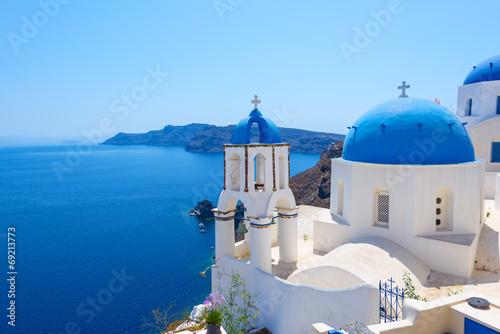 Fototapeta Village of Oia in Santorini obraz