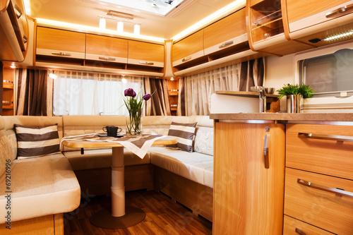 Fotomural Living Quarters in Luxury Motorhome