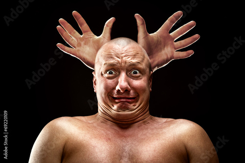 Fotografie, Tablou  Stressed man