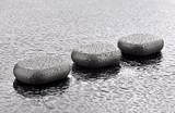 Fototapeta Kamienie - Mokre kamienie bazaltowe