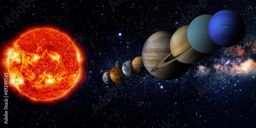 Keuken foto achterwand Nasa Solar system