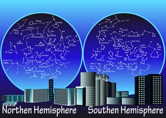 constellations of hemisphere