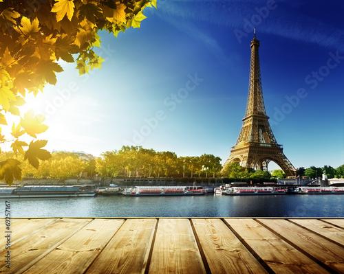 Printed kitchen splashbacks autumn in Paris