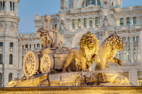 Foto  Cibeles Fountain at Madrid, Spain