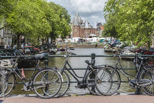 Photo  New market in Amsterdam, Netherlands