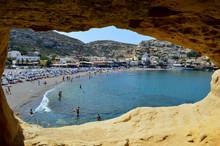 Plage De Matala, Crète