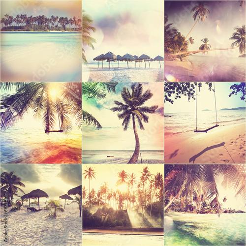 Fotografie, Obraz  Beach collage