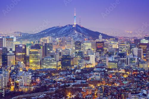 Photo sur Aluminium Seoul Seoul, South Korea Skyline