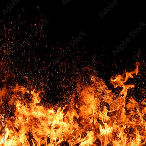 Fotomural Feuer mit Funkenflug