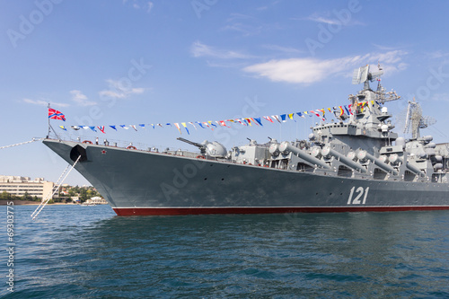 Tablou Canvas Sevastopol, the Navy holiday, flagship