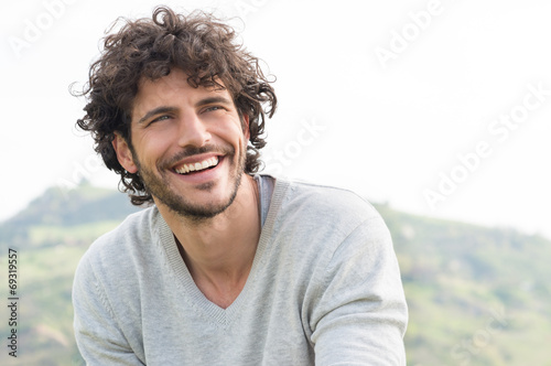 Portrait Of Happy Laughing Man