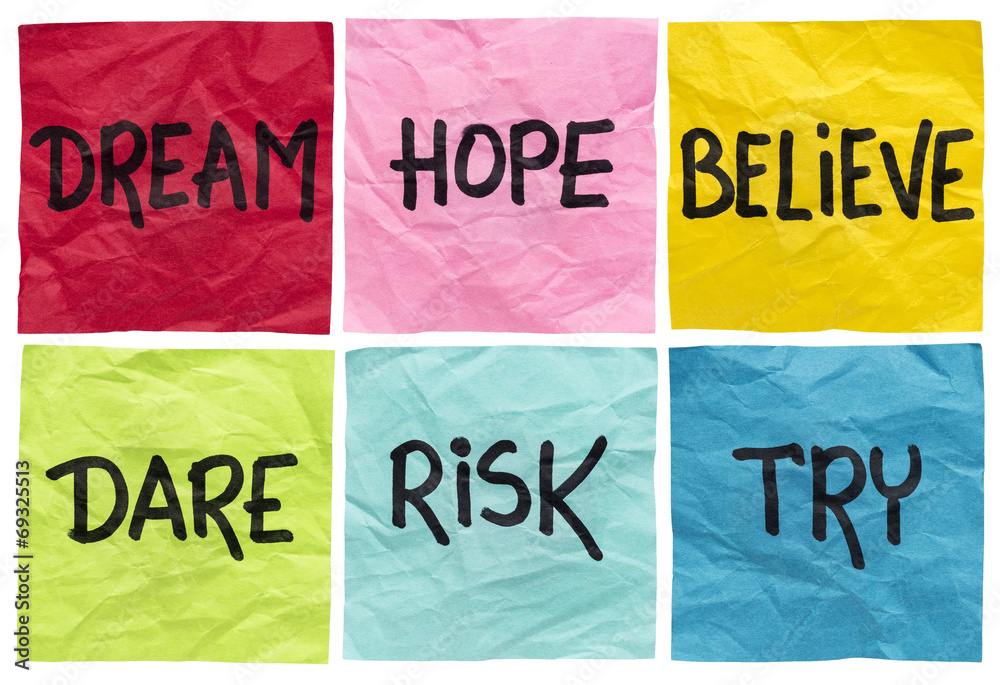 Fototapeta dream, believe, risk, try