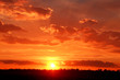 Leinwandbild Motiv Beautiful sunset with clouds