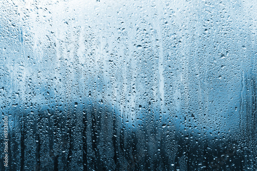 Stampa su Tela rain on glass