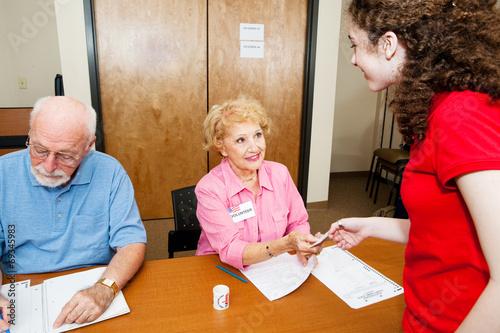 Fotografie, Obraz  Voting at the Polls