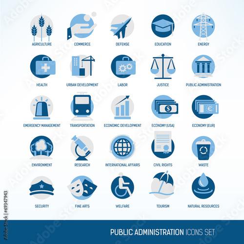 Fotografia  Public administration icons