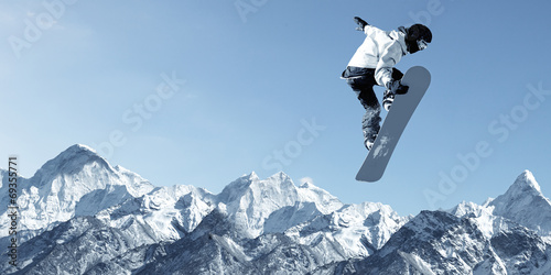 Photo  Snowboarding sport