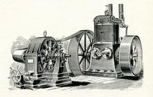 Steam Engine And Dynamo Ca. 1880